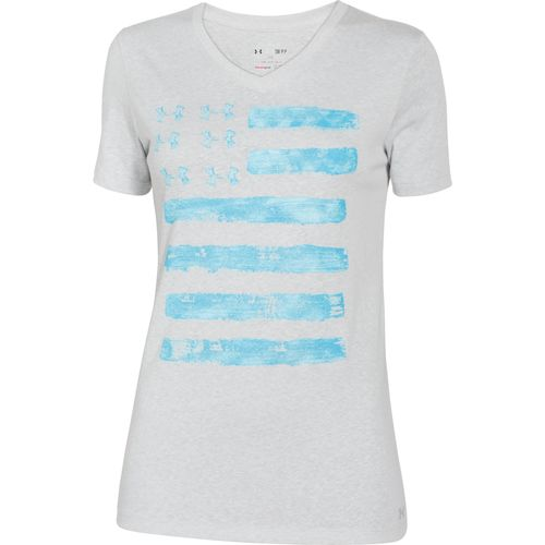 Image For Under Armour Women 39 S Painted Flag T Shirt From