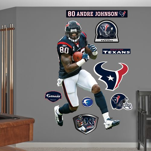 Fathead Houston Texans Andre Johnson #80 Team and Player Decals 9-Pack