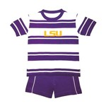 Two Feet Ahead Toddlers' Louisiana State University Rugby Short Set