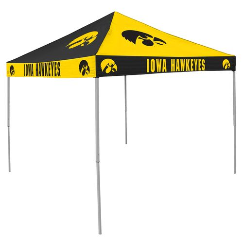 Logo™ University of Iowa Straight-Leg 9' x 9' Checkerboard Tent