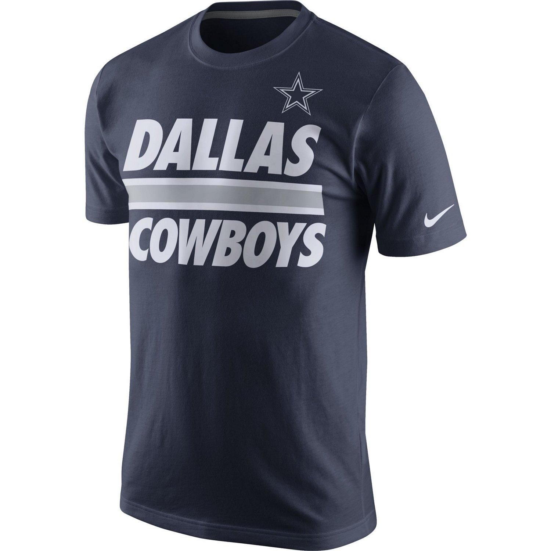Image for nike men 39 s dallas cowboys team stripe t shirt for Dallas cowboys fishing shirt