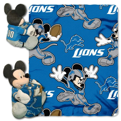 The Northwest Company Detroit Lions Mickey Mouse Hugger and Fleece Throw Set - view number 1