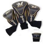 Team Golf Milwaukee Brewers Contour Sock Head Covers 3-Pack - view number 1