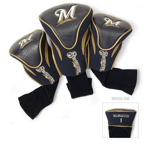 Team Golf Milwaukee Brewers Contour Sock Head Covers 3-Pack