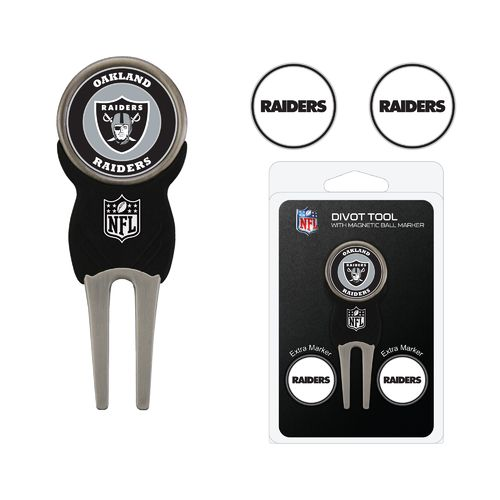 Team Golf Oakland Raiders Divot Tool and Ball Marker Set