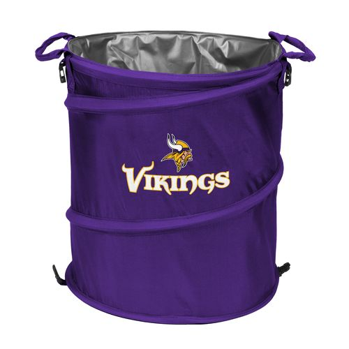 Logo™ Minnesota Vikings Collapsible 3-in-1 Cooler/Hamper/Wastebasket