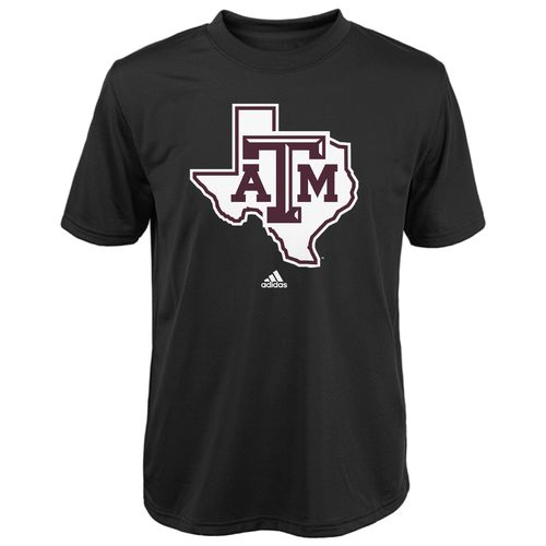 adidas™ Boys' Texas A&M University Sideline Lone Star Logo Clima T-shirt