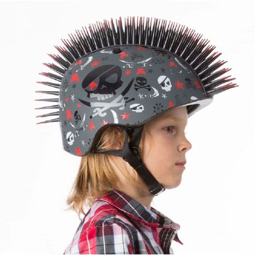 Krash Youth Pirate Skull Mohawk Bicycle Helmet - view number 2