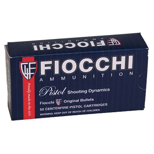 Fiocchi Pistol Shooting Dynamics 9mm Jacketed Hollow-Point Centerfire Handgun Ammunition