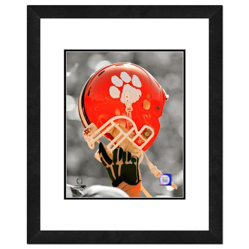 "Photo File Clemson University Helmet 16"" x 20"" Matted and Framed Photo"