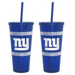 Boelter Brands New York Giants 22 oz. Bling Straw Tumblers 2-Pack