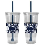 Boelter Brands Penn State Bold Neo Sleeve 22 oz. Straw Tumblers 2-Pack