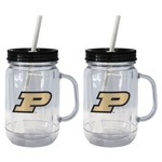 Boelter Brands Purdue University 20 oz. Handled Straw Tumblers 2-Pack