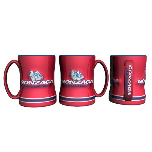 Boelter Brands Gonzaga University 14 oz. Relief Mugs 2-Pack - view number 1