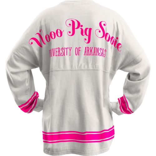 Three Squared Juniors' University of Arkansas Semi Pro Sweeper Top