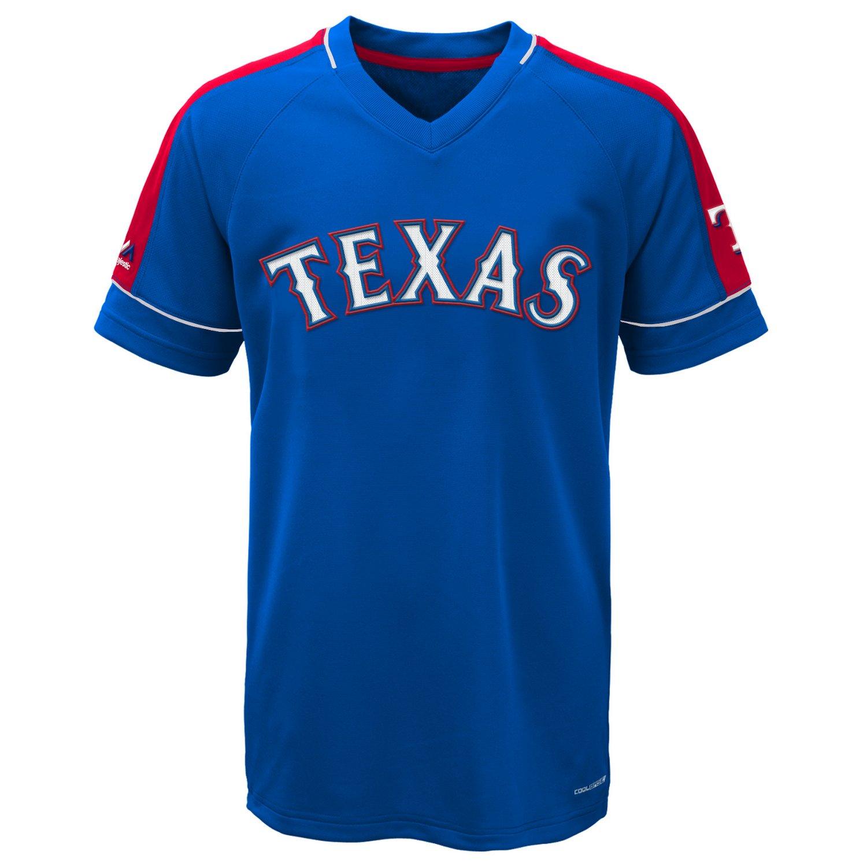 Majestic Boys' Texas Rangers Lead Hitter V-neck T-shirt