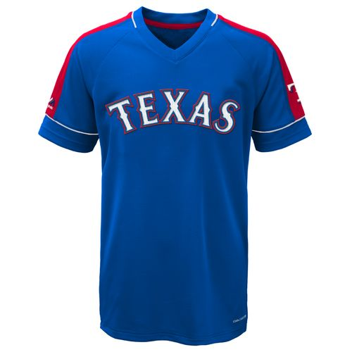 Majestic Boys' Texas Rangers Lead Hitter V-neck T-shirt