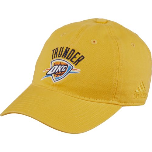 adidas™ Men's Oklahoma City Thunder Primary Logo Washed Slouch Cap