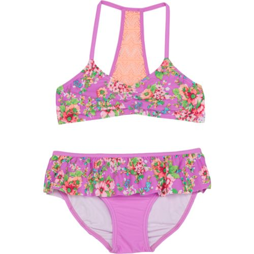 O'Rageous Kids Girls' Blossom 2-Piece Bikini Swimsuit