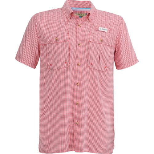 Magellan Outdoors Men's Aransas Pass Short Sleeve Gingham Fishing Shirt - view number 1