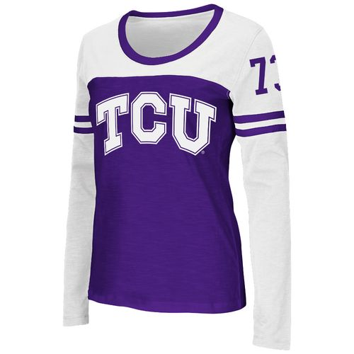 Colosseum Athletics™ Women's Texas Christian University Hornet Football Long Sleeve T-shirt
