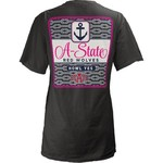 Three Squared Juniors' Arkansas State University Knotty Tide T-shirt