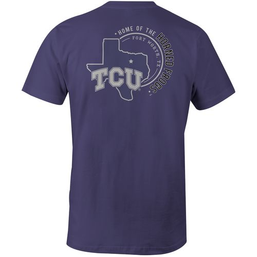 Image One Men's Texas Christian University Home State Comfort Color T-shirt