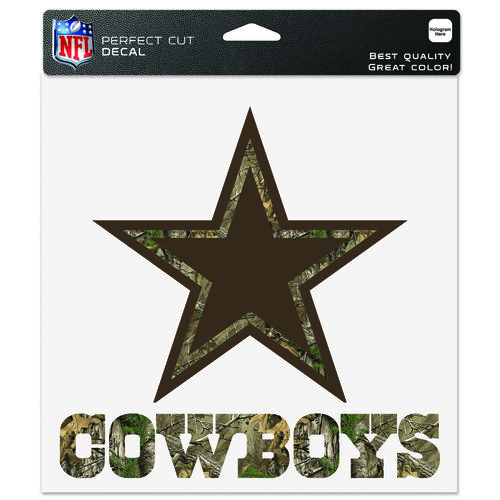 "WinCraft Dallas Cowboys Realtree Perfect Cut 8"" x 8"" Decal"