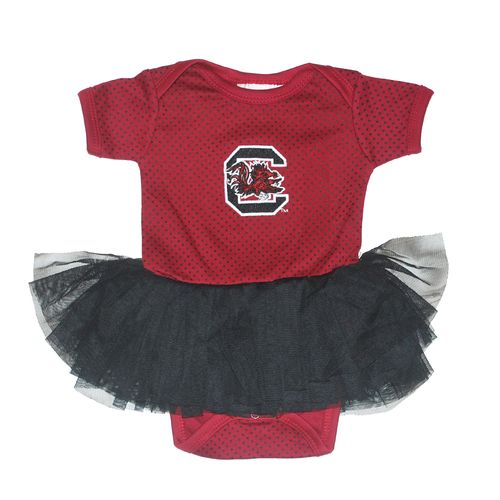 Two Feet Ahead Infant Girls' University of South Carolina Pin Dot Tutu Creeper