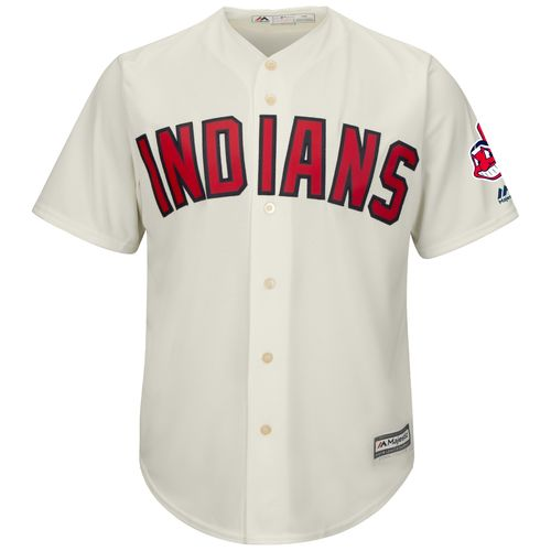 Majestic Men's Cleveland Indians with Patch Cool Base Replica Jersey