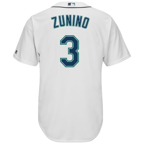 Majestic Men's Seattle Mariners Mike Zunino #3 Cool Base Replica Jersey - view number 2