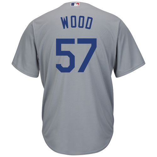 Majestic Men's Los Angeles Dodgers Alex Wood #57 Cool Base Replica Jersey - view number 2