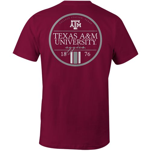 Image One Men's Texas A&M University Simple Circle Lines Comfort Color T-shirt