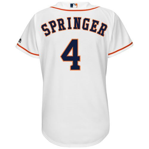 Majestic Women's Houston Astros George Springer #4 Authentic Cool Base Home Jersey