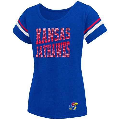 Colosseum Athletics™ Girls' University of Kansas Fading Dot T-shirt