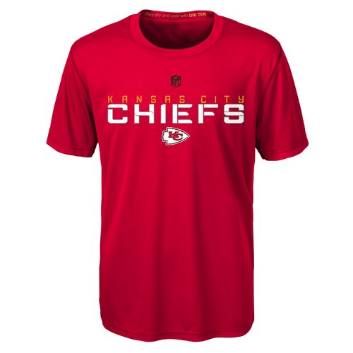 NFL Boys' Kansas City Chiefs Dri-Tek Maximal T-shirt