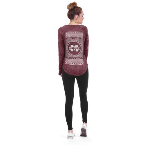 Chicka-d Women's Mississippi State University Favorite V-neck Long Sleeve T-shirt
