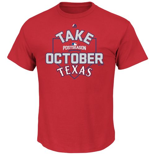 Majestic Men's Texas Rangers Take October 2016 Postseason T-shirt