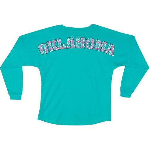 Boxercraft Women's University of Oklahoma Flower Print Pom-Pom Jersey