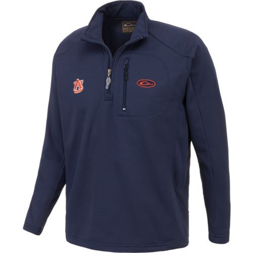 Drake Waterfowl Men's Auburn University BreathLite 1/4 Zip Pullover - view number 2