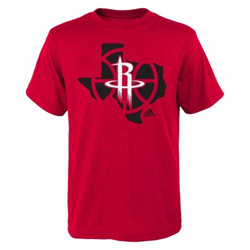 adidas Boys' Houston Rockets State Outline T-shirt