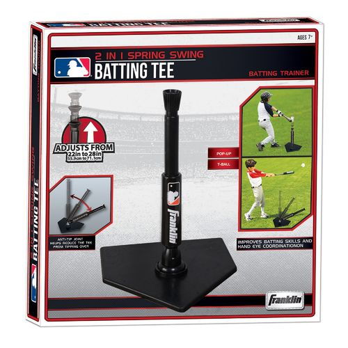 Franklin MLB 2-in-1 Power Spring Swing Batting Tee with Pop-Up - view number 3