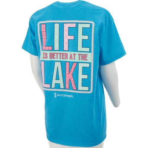 Love & Pineapples Women's Life is Better at the Lake Short Sleeve T-shirt