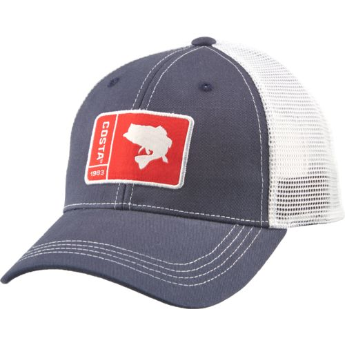 Costa Del Mar Men's Patch Bass Twill Cap