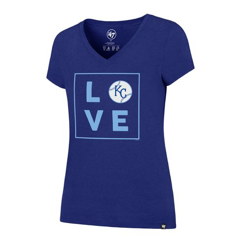 '47 Kansas City Royals Women's Love Club V-neck T-shirt