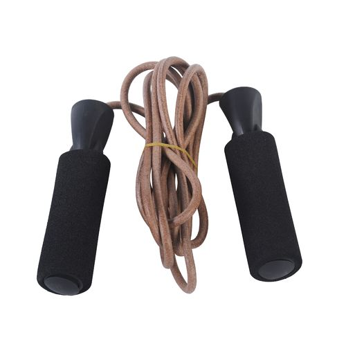 Sunny Health & Fitness Leather Jump Rope