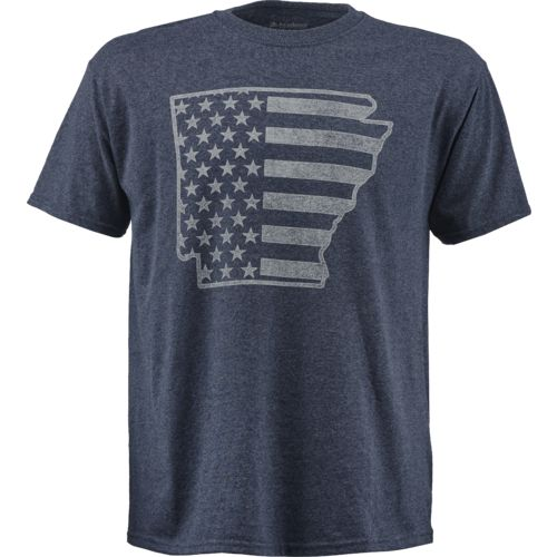 Academy Sports + Outdoors Men's Arkansas American Flag T-shirt