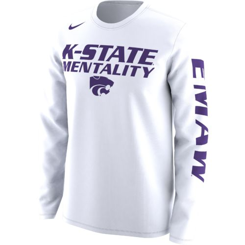 Nike Men's Kansas State University Basketball Legend Mentality Bench T-shirt