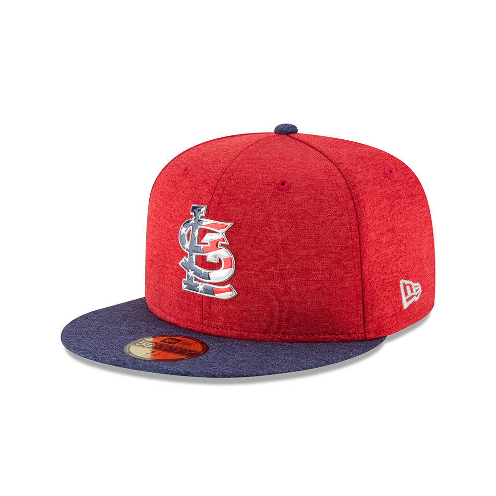 New Era Men's St. Louis Cardinals Stars and Stripes 2T '17 59FIFTY Cap - view number 2
