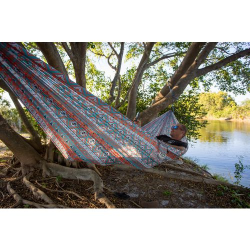 Twisted Root Design Teal Tribal Hammock - view number 6